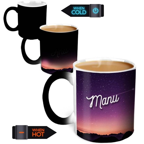 Hot Muggs Magic Color Changing Ceramic Mug