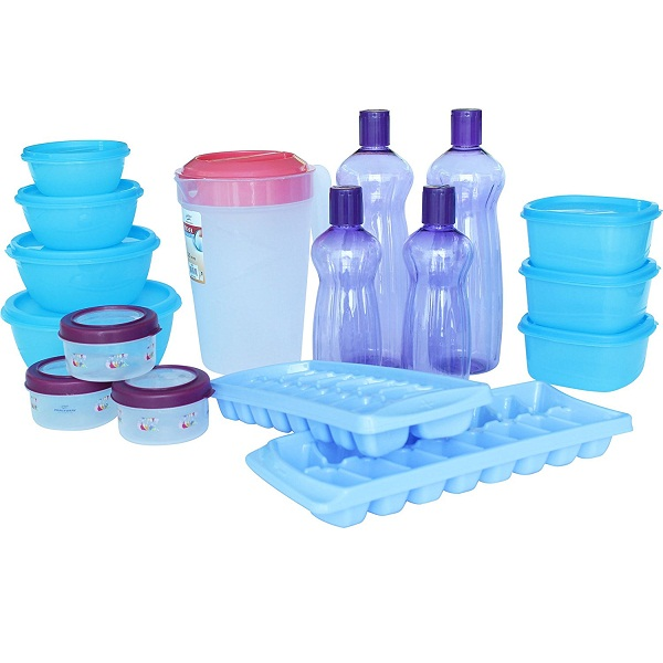 Princeware Plastic Refrigerator Jar Set 17Pieces