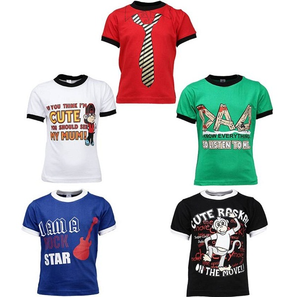 Gkidz Tshirt For Boys pack of 5