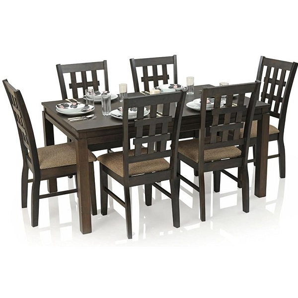 Royal Oak Chequered Daisy Six Seater Dining Table Set