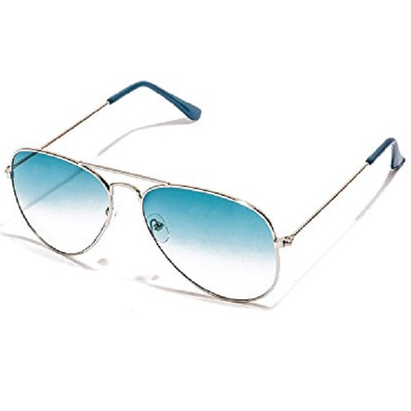 VESPL Stylish Silver frame Sea green Aviator Sunglass