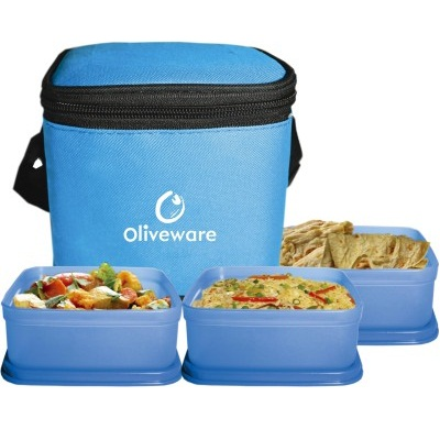 Oliveware 3 Containers Lunch Box