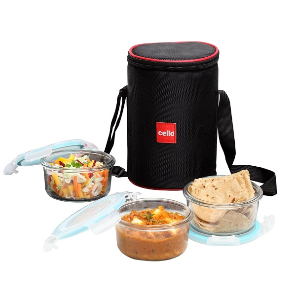 Cello Lock N Fresh Glass Container Lunch Pack Set