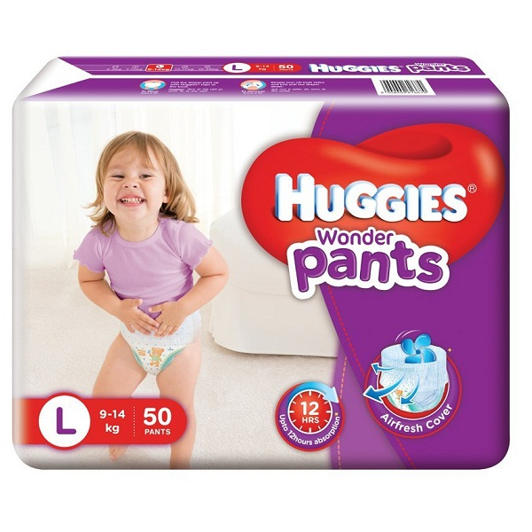 Huggies Wonder Pants Large Size Diapers 50 Count