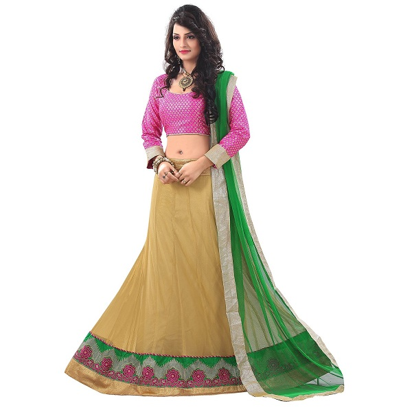 7 Colors Lifestyle Womens Net Lehenga Choli