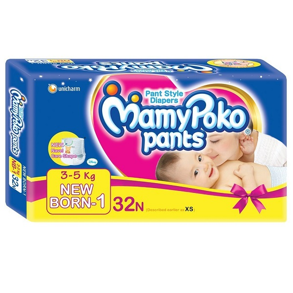 Mamy Poko Pant Style Extra Small Size Diapers 32 Count