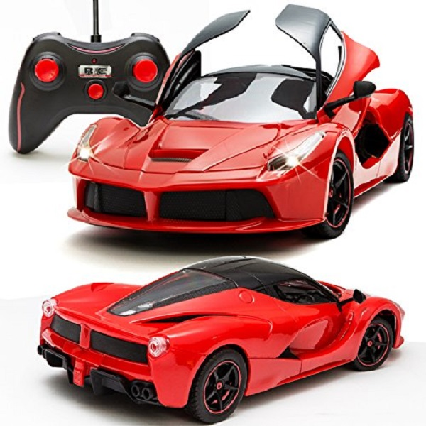 Sunshine Remote Control Car with Opening Doors Rechargeable Ferrari Design