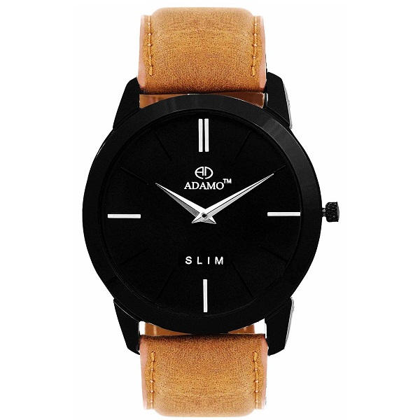 ADAMO Analogue Black Dial Mens Watch