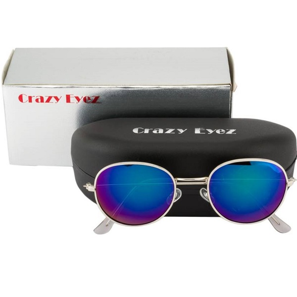 Crazy Eyez Retro Round Sunglasses