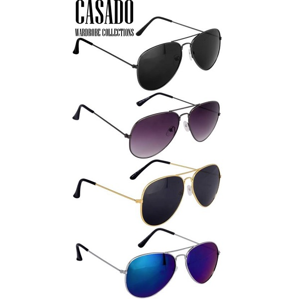 Casado Combo of 4 Most Trendy Aviator Sunglasses