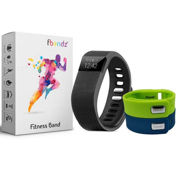 fbandz TW64 Fitness SmartBand with 2 Colourful Replacement band