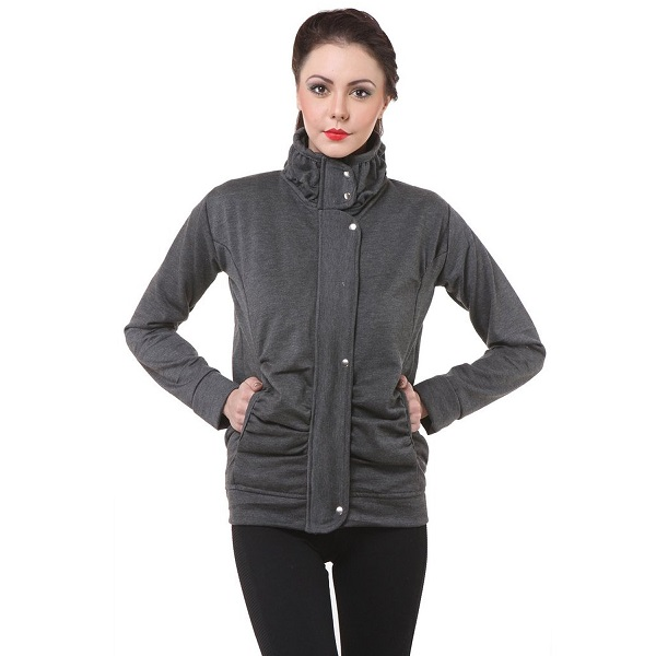 Purys Grey Winter Fleece Jacket