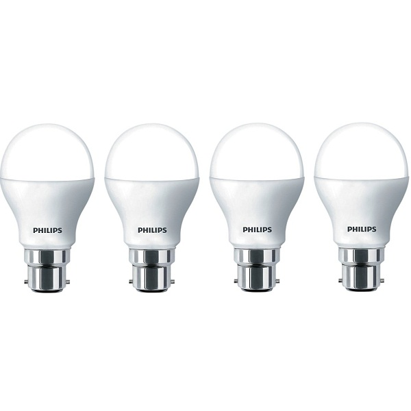 Philips Base B22 9Watt LED Bulb Pack of 4