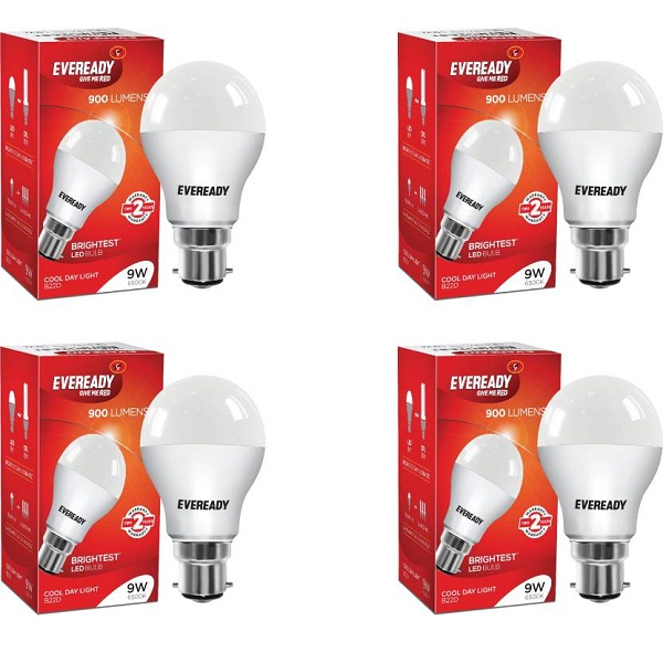 Eveready 9 W B22 LED Bulb Pack of 4