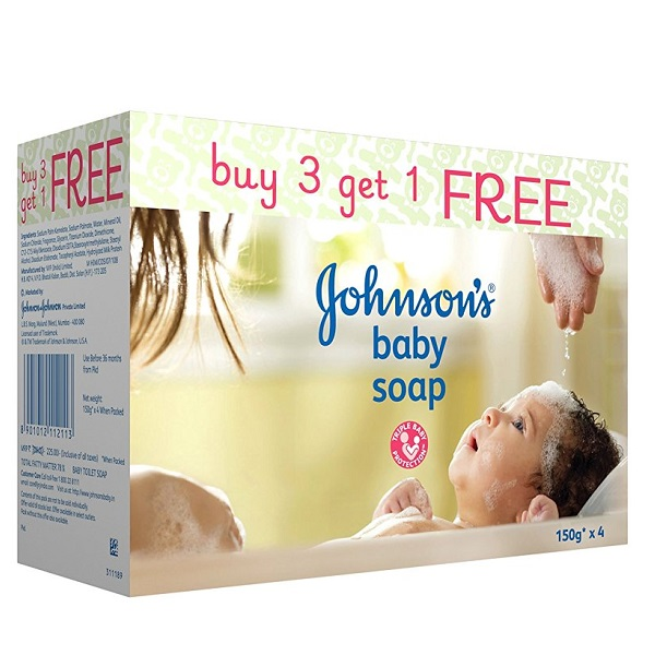 Johnsons baby soap 150g Buy 3 get 1 FREE
