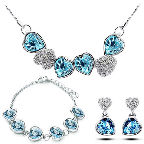 YouBella Necklace Set with Earrings and Bracelet