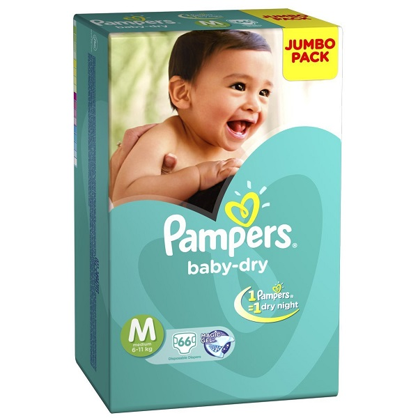 Pampers Medium Size Diapers Jumbo Pack