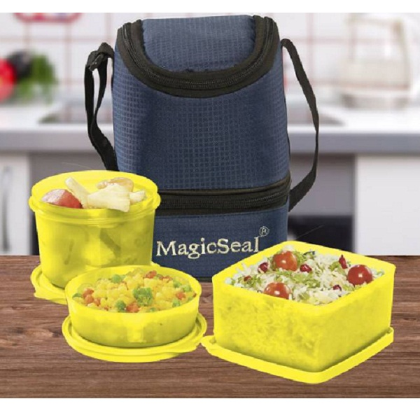 Polyset Magic SealMarc 3 Containers Lunch Box