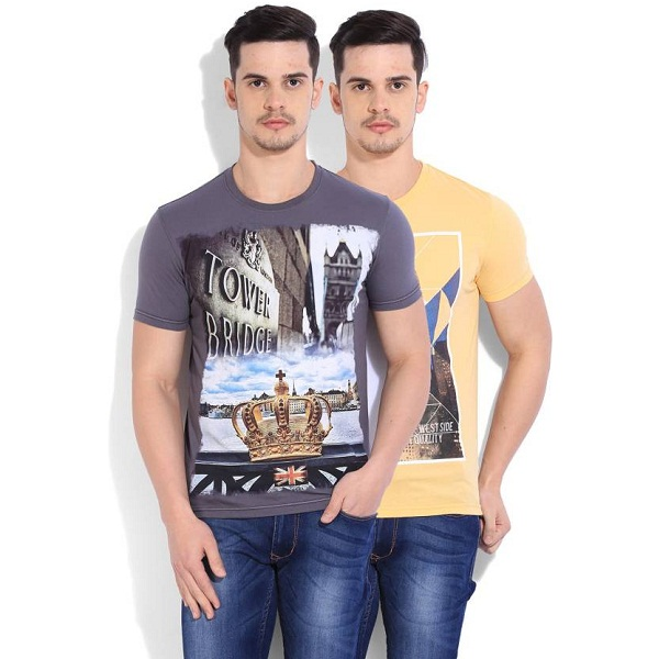 Fort Collins Mens T Shirt Pack of 2