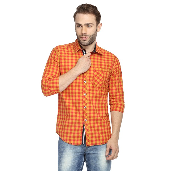 Wajbee Mens Cotton Casual Shirt