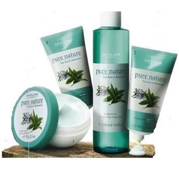 Set of 4 Oriflame Sweden Pure Nature Tea Tree And Rosemary 425 g