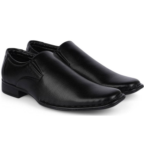Provogue Slip On Black Formal Shoes