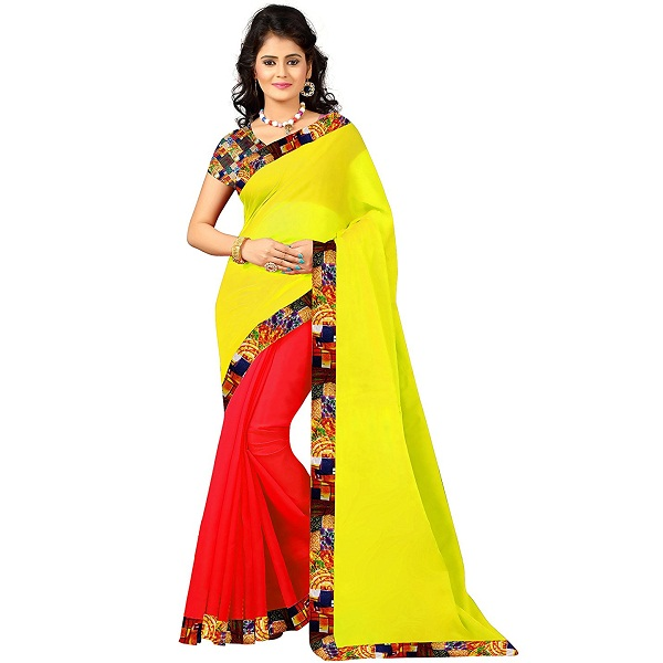 Fab Desire Womens Faux Georgette Saree