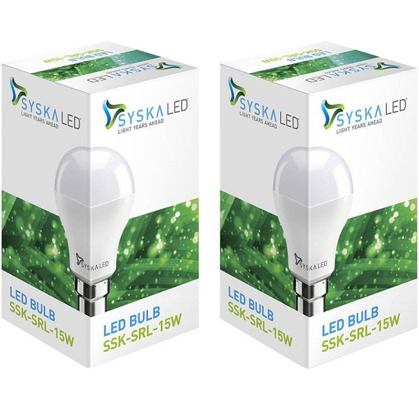 Syska Led Lights 15 W B22 LED Bulb Pack of 2