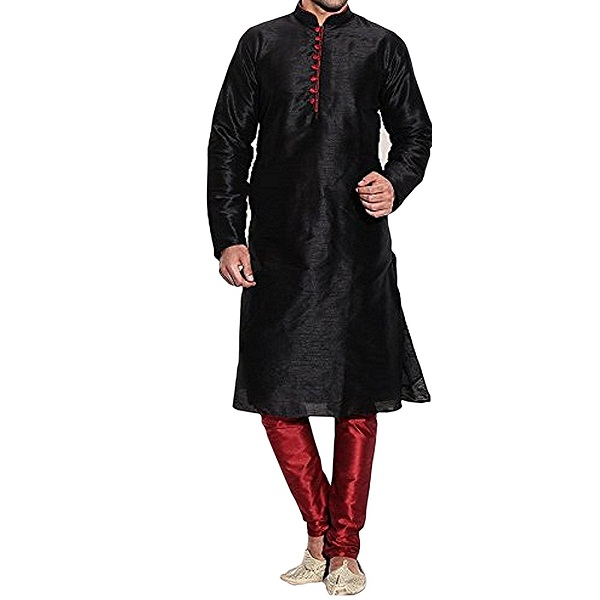 Royal Mens Silk Blend Kurta Pyjama Set