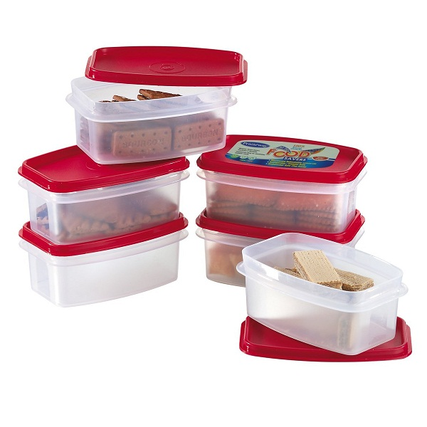 Primeway Modular 6Pcs Kitchen Food Savers Plastic Storage Containers