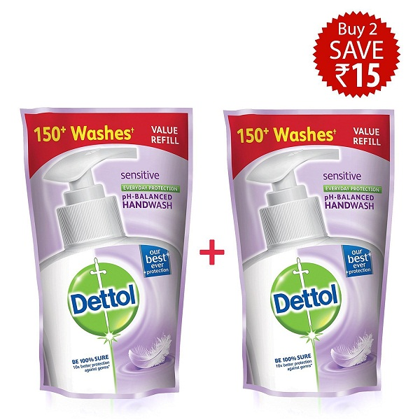 Dettol Sensitive Liquid Soap Refill Pouch 2
