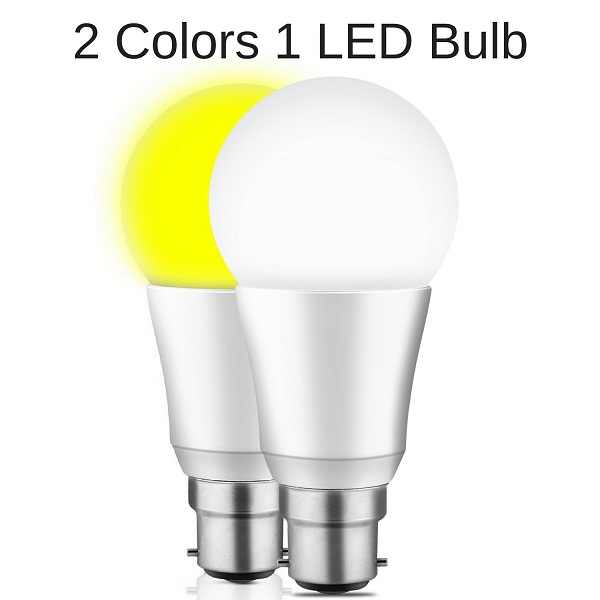 Mansaa DualShine 2 Colors in 1 LED Bulb 9W Smart LED Bulb