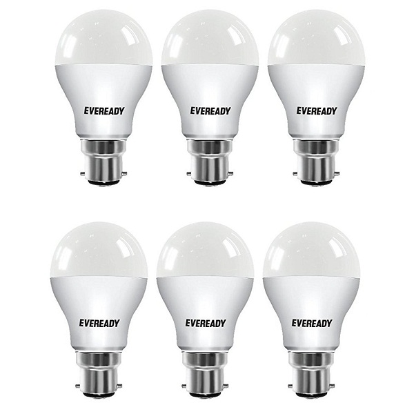 Eveready Base Pack of 6 B22 7Watt LED Bulb