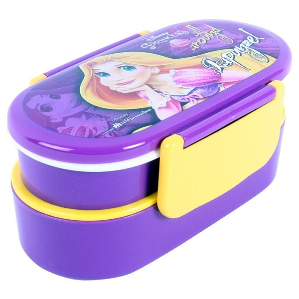Disney Rapunzel Plastic Lunch Box Set