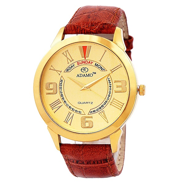 Adamo Gold Dial analog Mens Watch