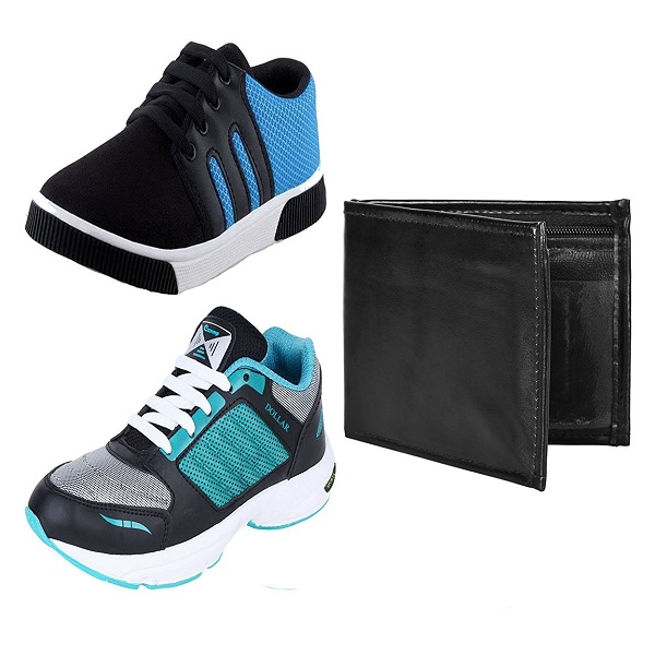 Earton Mens COMBO Pack Shoes with Wallet
