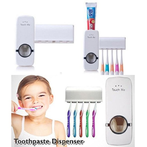 Tuzech Automatic ToothPaste Dispenser With Brush Holder