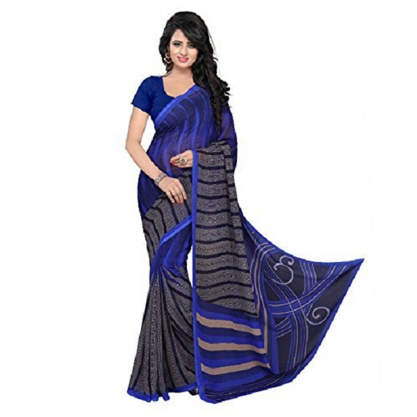 Janasya Womens Multi Printed Georgette Saree