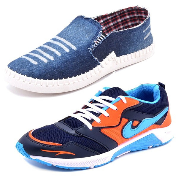 Aircum COMBO Pack of 2 Pair of Shoes
