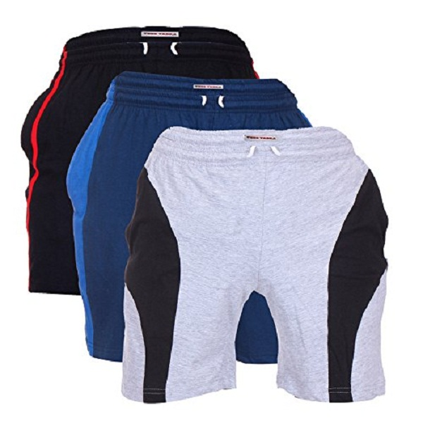 TeesTadka Mens Cotton Shorts Pack of 3