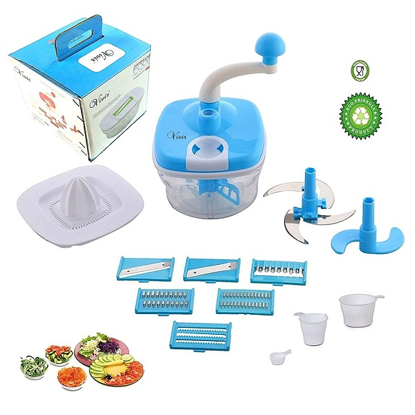 Vivir Plastic 10 in 1 Food Processor 14 Pieces