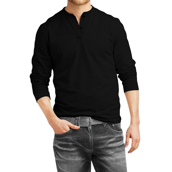 Fanideaz Mens Cotton Henley Full sleeve T Shirts