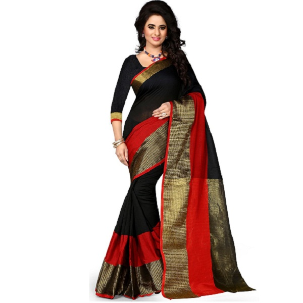 Shree Sanskruti Womens Poly Cotton Saree
