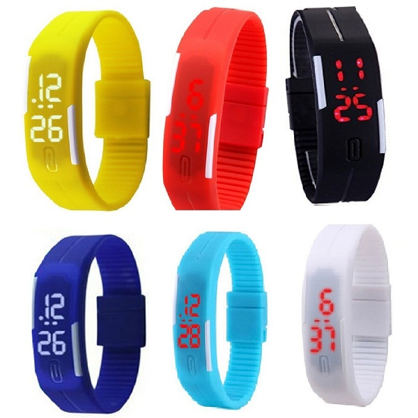 Glitter Collection LED Band watch 6 pcs
