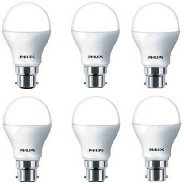 Philips 7 W Globe B22 LED Bulb Pack of 6