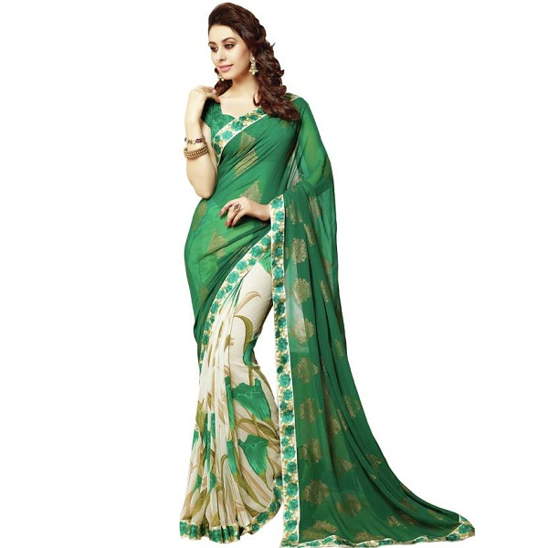 Bhavi Printed Fashion Georgette Sari