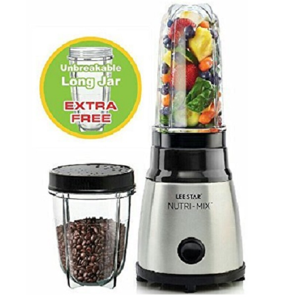 Lee Star 400 Watts Stainless Steel Nutri Mix with Extra Free Unbreakable long jar
