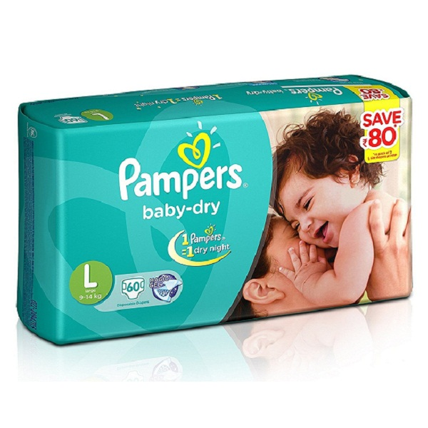 Pampers Baby Dry Large Size Diapers Jumbo Pack