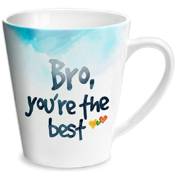 Hot Muggs 350ml Good Morning Bro Ceramic Conical Mug
