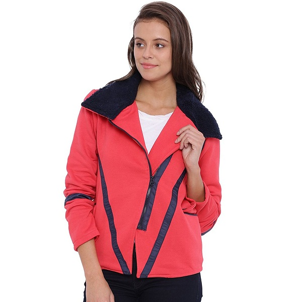 Campus Sutra Women Pink Jacket